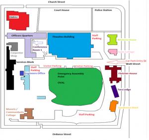 Map of parking at James Fletcher Hospital
