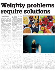 Newcastle Herald article titled weighty problems require solutions