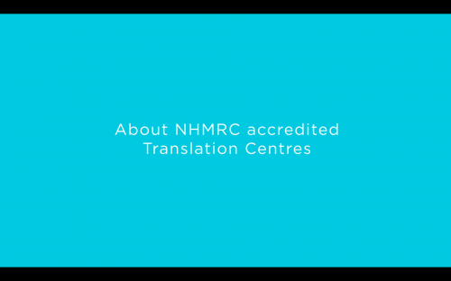 About NHMRC accredited translation centres video