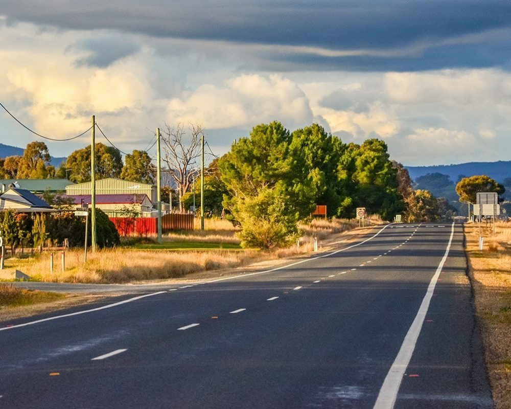 regional NSW road